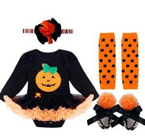 disfraz de bailarina con motivo de calabaza de halloween