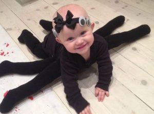 Disfraz de halloween de bebe araña