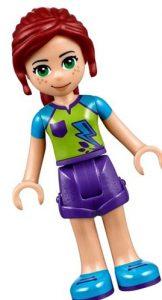 Mia, uno de los personajes principales de Lego Friends