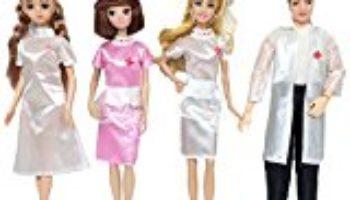 4 SET muñeca juguete enfermera y doctor carrera ropa trajes accesorios para Barbie juguetes niños cumpleaños regalo de Navidad [OFERTAS]