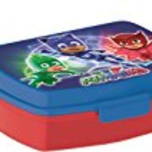 BBS PJ Masks Contenedor Snack, Plástico, Azul y Rojo, 17×13.5×6 cm [OFERTAS]