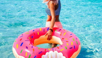 ? Flotador Donut Rosa Hinchable Para Piscina