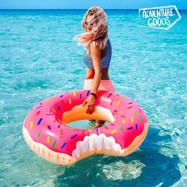 Flotador Donut Rosa Gigante