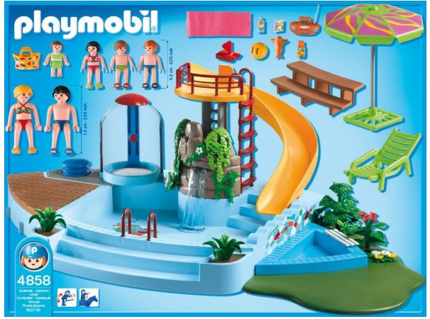 Parque acu tico playmobil review y tutorial montaje top for Tobogan piscina carrefour