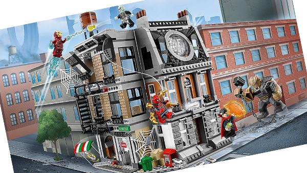 Duelo en el Sancta Santorum - Lego Marve Infinity War
