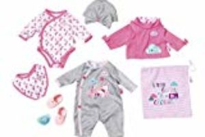 BABY born Deluxe Care and Dress Juego de ropita para muñeca – Accesorios para muñecas (Juego de ropita para muñeca, 3 año(s), Multicolor, 43 cm, Chica, BABY born) [OFERTAS]