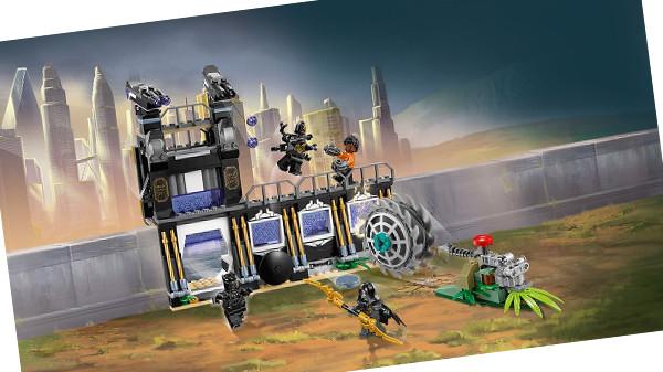 Juego de construcción del tema Avengers Infinity War de LEGO: Ataque de la trilladora de Corvus Glaive