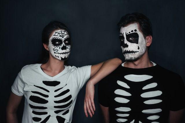 disfraz esqueleto niño