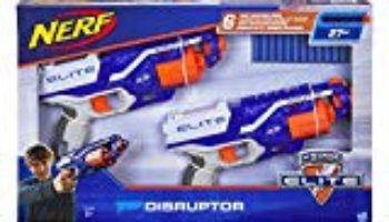 Nerf N-Strike Elite Disruptor, Pack de 2 Pistolas con Capacidad de 6 Dardos en el Tambor rotatorio [OFERTA FINALIZADA]