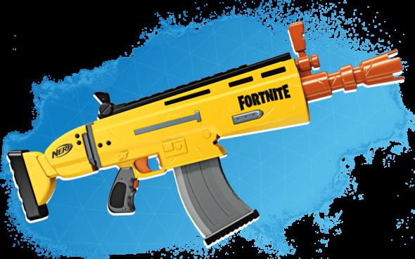 Pistola Nerf de Fortnite
