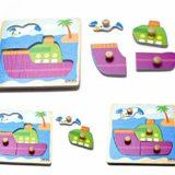 Hosaire 1x Rompecabezas de Madera para Niños de 2 a 5 años,Puzzles 3D,Niños Bebé Temprano Juguete Educativo Aprendizaje en el Hogar Educación Preescolar Desarrollo Juguetes y Juegos(Enviado al Azar) [OFERTAS]