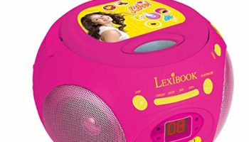 Soy Luna – Reproductor Radio CD Portátil, Color Rosa (Lexibook RCD102SL) [OFERTAS]