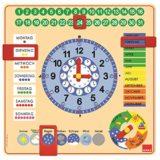Goula – Reloj y calendario en alemán, material educativo (Diset 51309) [OFERTAS]