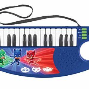 PJ Masks Pijamasks-Keytar el Teclado Guitarra, Instrumento Infantil a Partir de 3 años (Lexibook K280PJM) Musical, Color Blue/Verde/Rosso [OFERTAS]